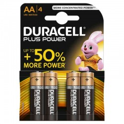PILE DURACELL PLUS POWER STILO 1.5 V LR6 AA KIT 4