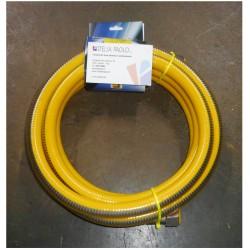 FLESSIBILE PER GAS GIALLO INOX F F 1,5 M T