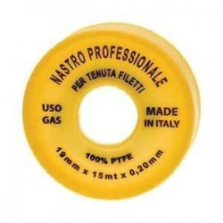 TEFLON PROFESSIONALE 19 MM=3/4 X 15MT SP 0.2