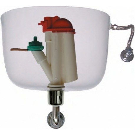 Meccanismo Di Scarico Cassette Wc Monoblocco In Ceramica.Batteria Prohydro