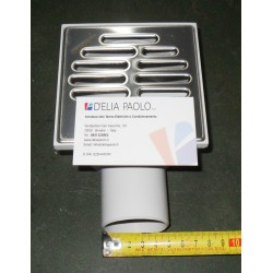 CHIUSINO SIFONATO 10.5 X 10.5 DA 50 LATERALE INOX