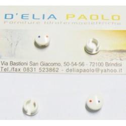 BOTTONCINO DIAMETRO MM 9 ROSSO/BLU PER LEVA MONOC.