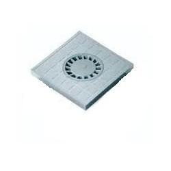 COPERCHIO CHIUSO CON SIFONE CENTRALE 300 X 300 MM