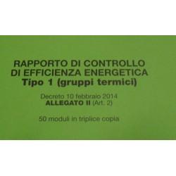 KIT N. 50 RAPPORTI DI CONTROLLO GRUPPI TERMICI