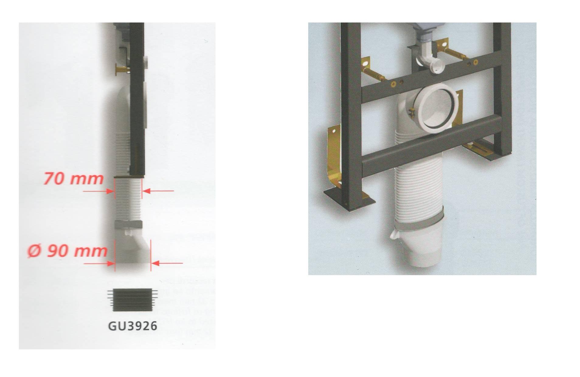 Dimensione Tubo Scarico Wc.Diametro Scarico Wc A Pavimento Come Riparare Il Water Che Perde