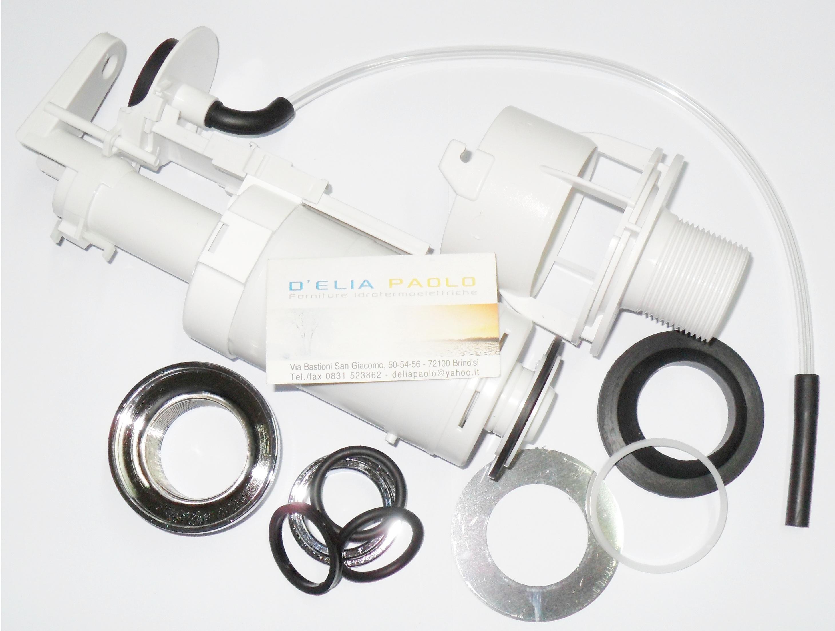 Meccanismo Di Scarico Cassette Wc Monoblocco In Ceramica.Batteria Scarico Cassetta Ceramica Oli Replace Deluxe Aria Tubo
